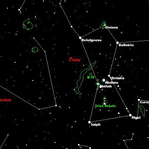 Orion star chart